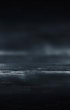 Futuristic Empty Night Scene. ...