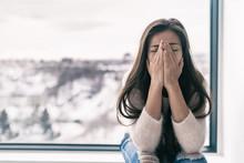Depressed Woman In Shock Or Gr...
