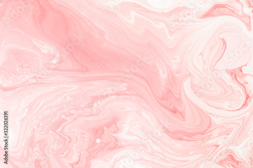 Pink Acrylic Pour Color Liquid marble abstract surfaces Design.