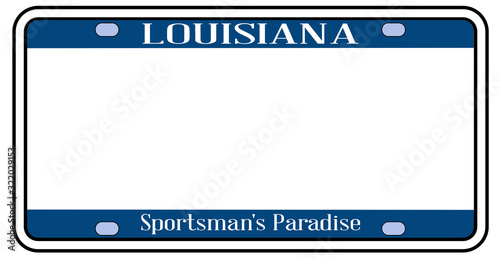 Blank Louisiana State License Plate Wallpaper Mural