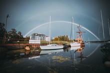 Summer Rainbow Through A Yacht.
