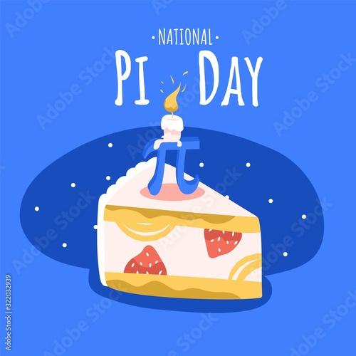 Fotografia National Pi day square banner template