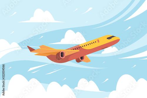 Airplane in sky Fototapeta
