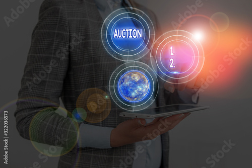Text sign showing Auction Canvas Print