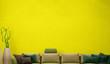 canvas print picture - large luxury modern minimal bright interiors room mockup illustration 3D rendering