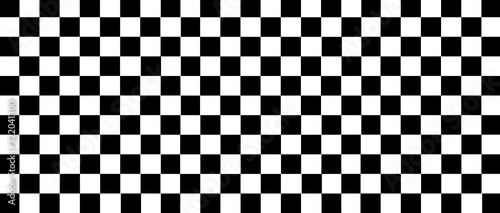 Obraz na plátně white and black checkered flag for racing background and texture.
