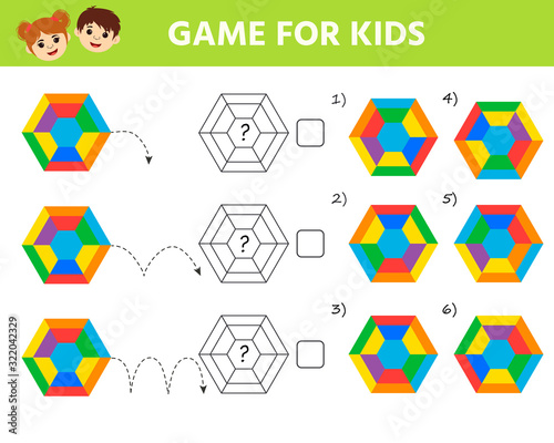 Education logic game for kids development of logic iq. Kids activity sheet.  Geometric figure. Learning math. Children funny riddle entertainment