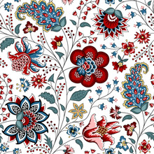 Chintz Seamless Pattern. Flora...