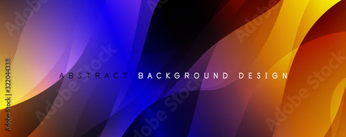 Fototapeta Trendy simple fluid color gradient abstract background with dynamic wave line effect. Vector Illustration For Wallpaper, Banner, Background, Card, Book Illustration, landing page obraz na płótnie