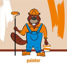 A Beaver, A Builder, Holds A P...