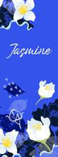 Blue Background With Jasmine L...