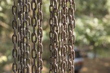 Vertical Hanging Rusty Iron Ch...