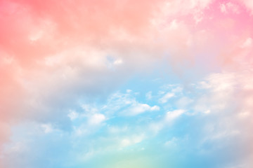 Fototapeta Do sypialni cloud background with a pastel colour