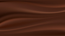 Chocolate Wave, Abstract Background. Vector Illustration