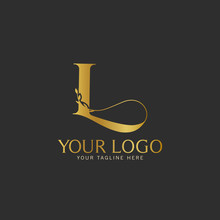 L Initial Letter Gold Logo Icon Classy Gold Letter Suitable For Boutique Restaurant Wedding Service Hotel Or Business Identity