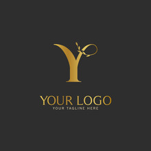 Y Initial Letter Gold Logo Icon Classy Gold Letter Suitable For Boutique Restaurant Wedding Service Hotel Or Business Identity