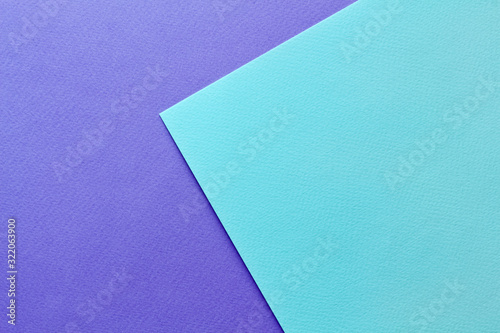 Abstract asymmetric geometric water color paper background in soft pastel purple and blue trend colors Canvas Print