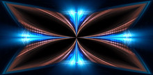 Abstract Neon Background. Blue...