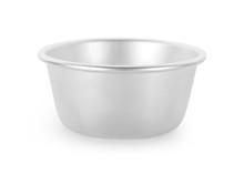 Aluminum Empty Bowl Isolated O...