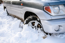 A 4x4 Car Stuck/ Trapped In Th...