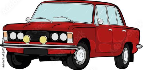 polski samochód, polski klasyk,auto,car,kreskówkowy,cartoon