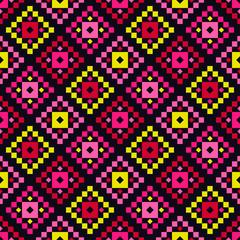 Aztec elements. Ethnic boho ornament. Seamless pattern. Tribal motif. Vector ...