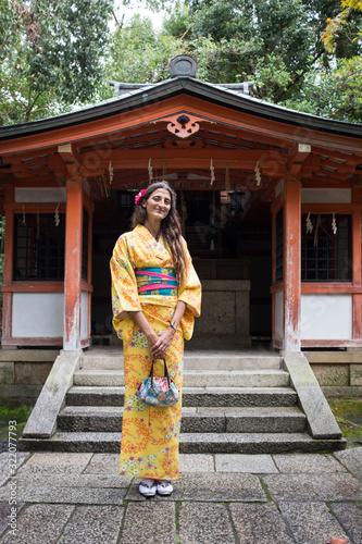 vestito tradizionale a Kyoto Wallpaper Mural