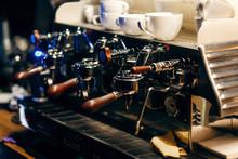Coffee Macine In Coffee Shop, Close-up