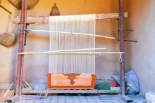 Weaving Loom With Berber Carpe...