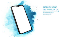 Mobile Phone Vector Mockup Wit...