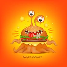 Cartoon Funny Octopus Monster ...