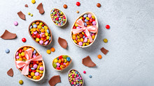Chocolate Easter Eggs And Cand...