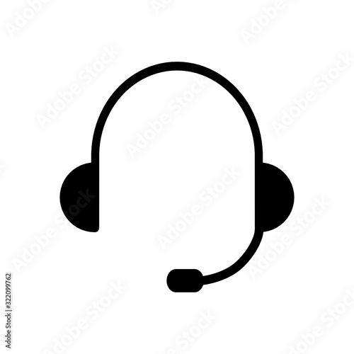 Obraz na plátně słuchawki ikona