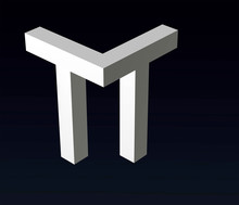 Font Stylization Of The Letters T And B, C, D, E, F, G, Y, H, K, L, M, N, O, P, R, S, Z,  Font Composition Of The Logo. 3D Rendering