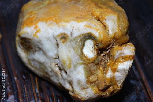 Untreated agate, quartz - chalcedony aggregate Canvas Print