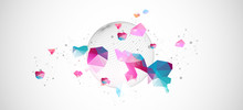 Abstract Sphere Background Wit...