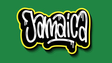 Jamaica Hand Lettering Graffit...