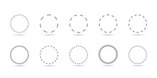 Dotted Line Circle Set
