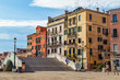 Ponte de la Veneta bridge and colored buildings in Venice
