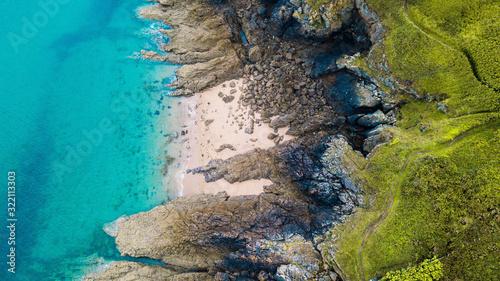 Photo Vue aérienne des côtes bretonnes, Bretagne, France