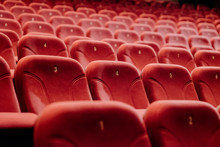 Empty Theater Chairs In The Th...