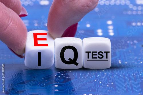 Cuadros en Lienzo EQ versus IQ suggesting emotional intelligence importance in recruitment or inte