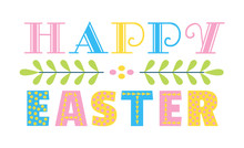 Happy Easter Fancy Hand Drawn ...