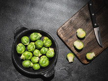 Fresh Green Brussels Sprouts I...