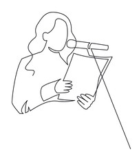 A Woman Is Reading A Document ...