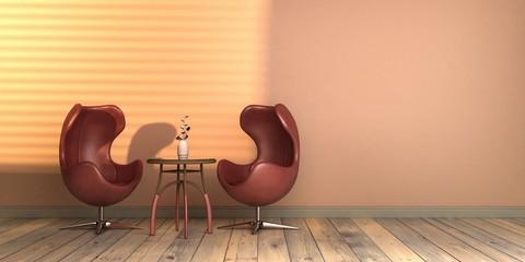 projekt wnętrza ze światłem słonecznym szablon pusta ściana classic blue kolor roku 2020 rendering 3d