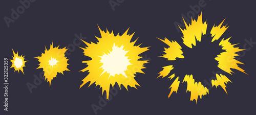 Cartoon explosion effect Fototapet