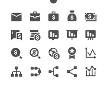 Business V2 UI Pixel Perfect Well-crafted Vector Solid Icons 48x48 Ready For 24x24 Grid For Web Graphics And Apps. Simple Minimal Pictogram
