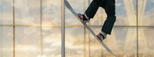 Young Skateboarder Performs A ...