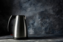 Silver Kettle On Desk And Free...